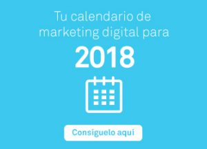 Calendario de marketing digital 2018