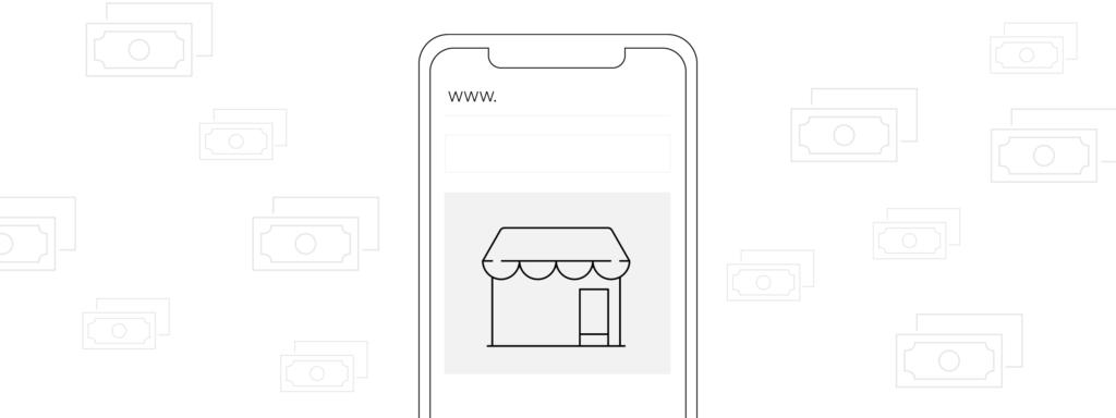 Icono de tienda en línea